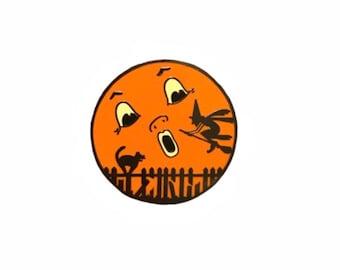 Halloween Moon Hard Enamel Pin