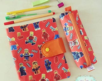 Lego Drawing pouch + pencil case for small artists