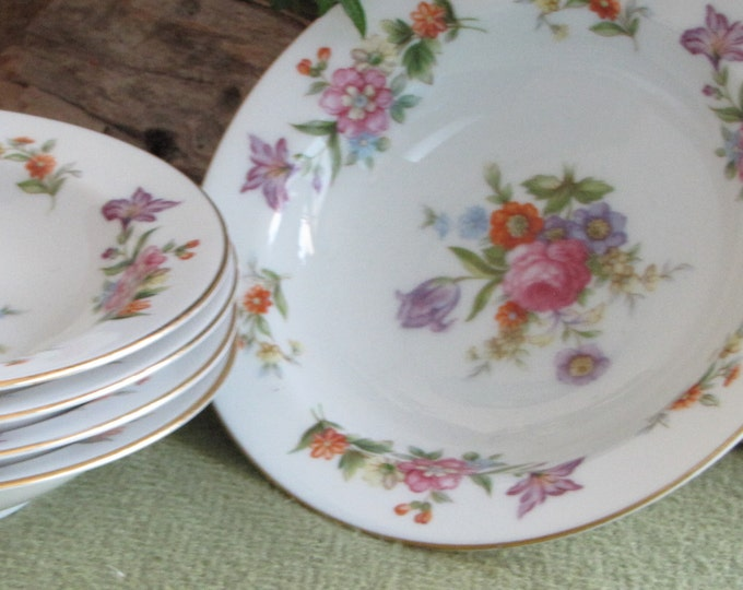 Dresdania Dessert Bowls Harmony House Set of Four (4) 1954 Sears and Roebuck u0026 : sears dinnerware sets - Pezcame.Com