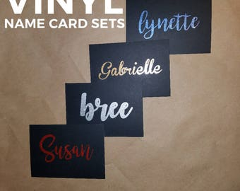 Vinyl Name Card Sets w/ Envelopes (set of 15)
