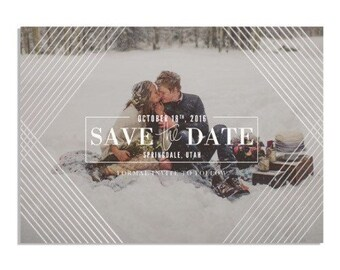 Save the Dates Foil Press Geometric