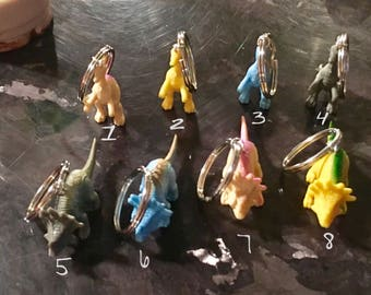 Dinosaur Keychain, Backpack Charm, Purse Charm, Party Favors, Keyring