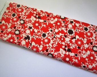 Yardage of Red Flowers from It's A Hoot Line by Momo for Moda