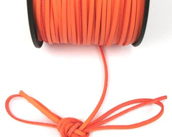SALMON 3 mm leather cord / 1 mm X 1 meter