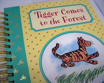 Tigger Winnie the Pooh story blank journal diary planner altered book A.A. Milne