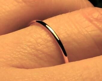 Thin Wedding band, womens wedding ring, simple wedding band, 1.3mm solid 14k, womens wedding band, handmade wedding ring, Mila kunis ring