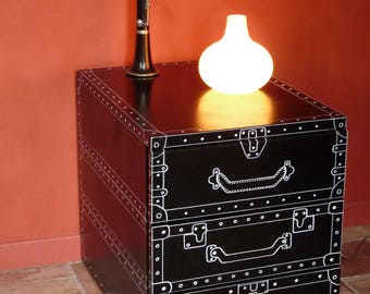 """Vintage metal box with drawers, suitcases stylized way BD - room decor unique """"Anatole"""""""