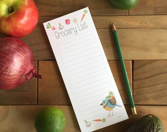 Grocery List , Note pad , shopping list, gift for mom, note pad, montly meal planning, gift for her, farmer market
