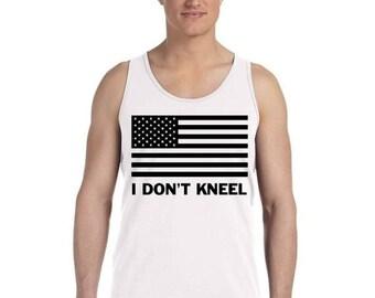 ON SALE - I Don't Kneel American Flag - Men's Tank Top