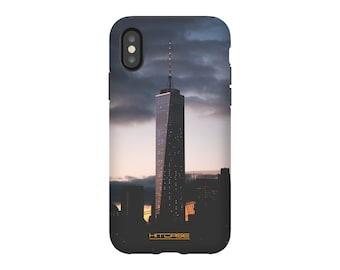 iPhone X Case - City Tower Design Tough Case - Scratch-Resistant - Lightweight, Durable