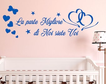 Son Wall sticker dedicate the best part of us are you writing children walls