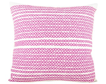 Deco Dots 20in Pillow in Hot Pink