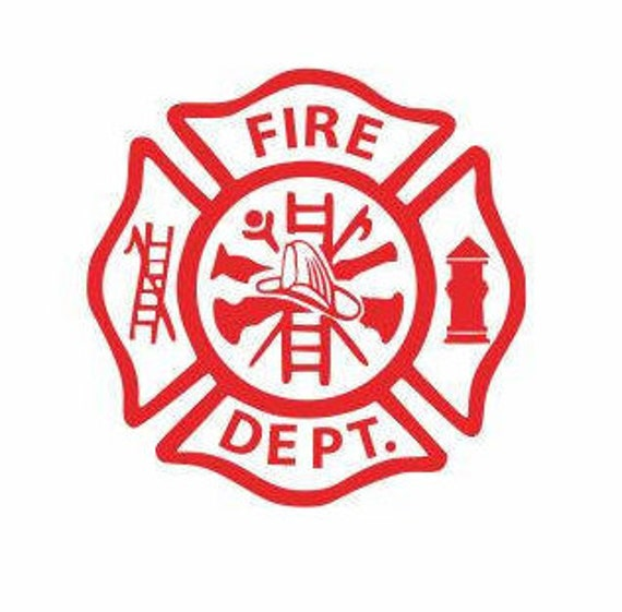 fire department logo decal fireman decals man cave decals rh etsy com fire station lego city fire station loose road