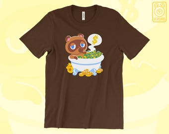 Tom Nook 'Bank Bath' T-SHIRT // Animal Crossing // New Leaf // Pocket Camp // Video Game Gifts