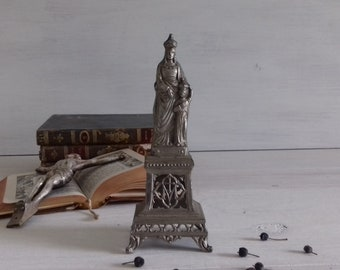 Antique statue of Madonna and child early twentieth France, Antique french Catholic statue