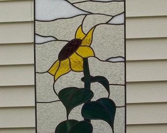 Field Sunflower Stained Glass Suncatcher
