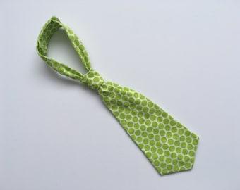 Baby Tie, Toddler Tie, Baby/Toddler Necktie, Baby Boy, Toddler Boy, Green Tie, Polka Dot Tie