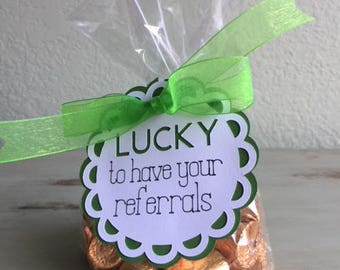 Saint Patrick's Day Thank You Pop Bys Gift - Set of 10