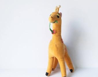 Giraffe Toy Dream Pets Giraffe Stuffed Animal 1970s Dakin Velvet Giraffe