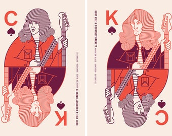 Kurt Vile & Courtney Barnett, screen print Gig Poster