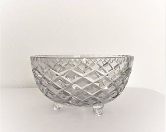 glass serving bowl mid century Polish