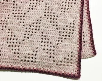 Crochet Afghan Pattern Herringbone