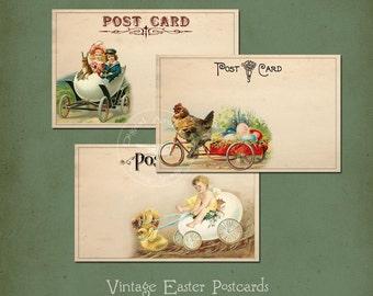Vintage Easter Postcards Instant Digital Download