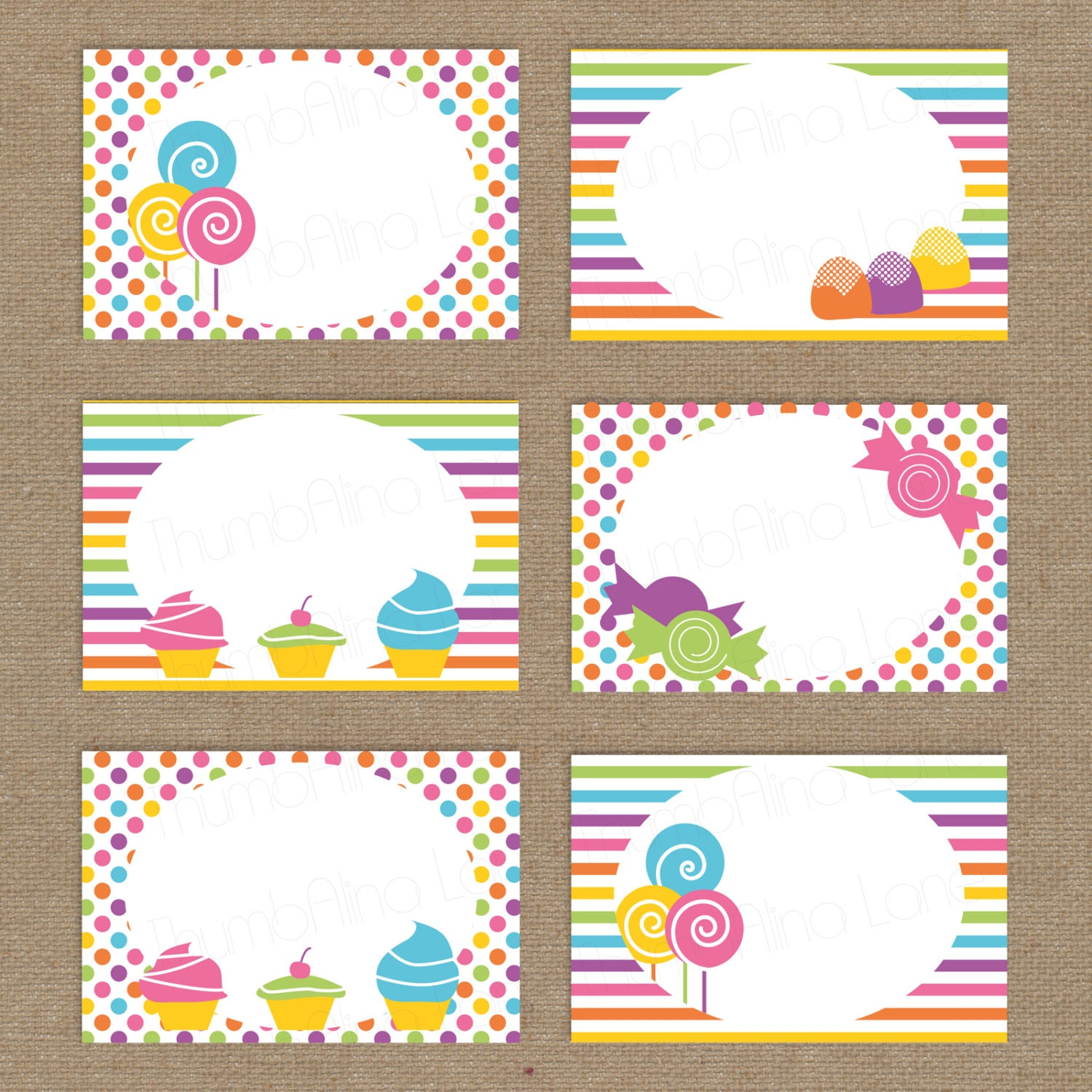 Free Food Cards For Buffet Template