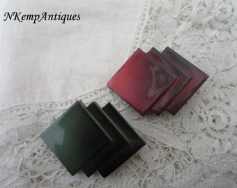 Vintage geometric brooch x 2