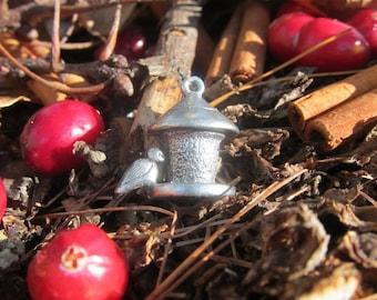 Bird and Feeder Lapel Pin - CC234