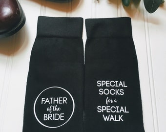 Father of the Bride socks, of all our walks together this one is my favorite, Dad of the bride gift, special socks for a special walk.
