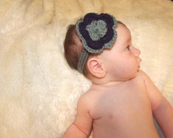 Baby Girl Crochet Flower Headband