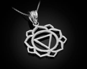 Sterling Silver Manipura (Confidence) Chakra Yoga Pendant Necklace