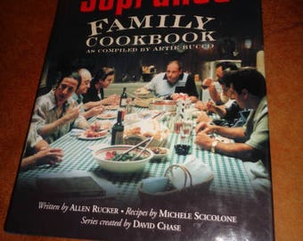 The Sopranos Family Cookbook Artie Bucco Hard Cover Allen Rucker Michele Scicolone David Chase 200 Pages