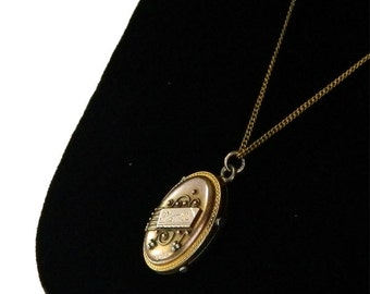Antique Victorian Locket Pendant Necklace