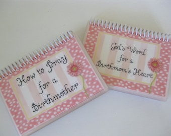 SALE - How to Pray for a Birthmother/God's Word for a Birthmom's Heart Combo Set, Laminated Cards, Spiral-Bound