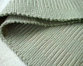 Sage Green Textured Rag Rug