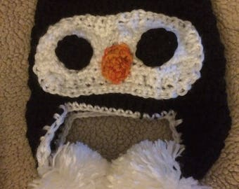 READY TO SHIP/ Penguin Hat, Baby hat, photo prop