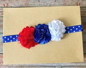 4th of July Headband, 4th of July Baby Headband, Patriotic Headband, Fourth of July, Baby Headband, Newborn Headband, Baby Girl Headband