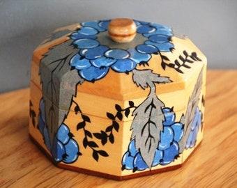 Swedish Scandinavian wooden box blueberry handcrafted