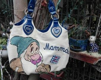 Bag Sale! SEVEN Dwarfs woman bag Mammolo vintage brand famous white blue perfect