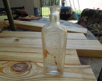 Vintage Bottle.  California Fig Syrup Co. Califig. Sterling Products (Inc) Successor.  7 Inches Tall