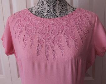 1960s Pink Wiggle Dress Large