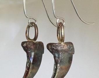 Bronze Bobcat Claw Earrings
