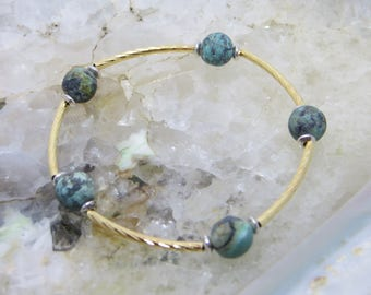 Blessing Bracelet, African Turquoise Crystal Gemstone: Creation and Confidence