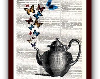 Kitchen Decor Home Art Teakettle Art Print: musical Notes Art Print