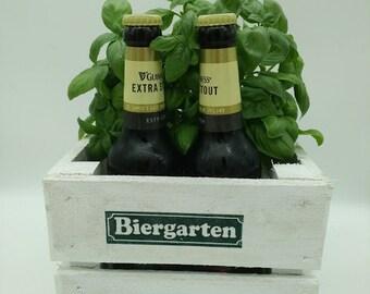Beer garden, gifts for men, men's gift, wooden crate, beer, gift box, bottle rack, beer bottle, beer crate, beer gift