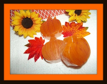 Pumpkin Glycerin Soap Set, Fall Soap Set, Harvest Soaps, Pumpkin Soaps, Pumpkin Decor, Fall Soap Set, Autumn Favors, Thanksgiving Favors