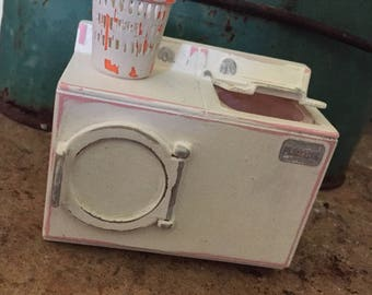 Shabby chic laundry washer dryer set dollhouse miniature 1:12