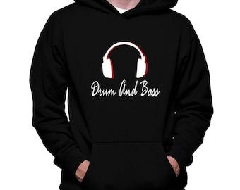 Drum And Bass Headphones Hoodie
